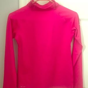 Nike girls size Large pink mock turtleneck dri-fit